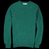 Harley of Scotland for Unionmade - Shetland Shaggy Crew Neck Sweater in Vintage Green