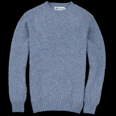 Harley of Scotland for Unionmade - Shetland Shaggy Crew Neck Sweater in Stardust