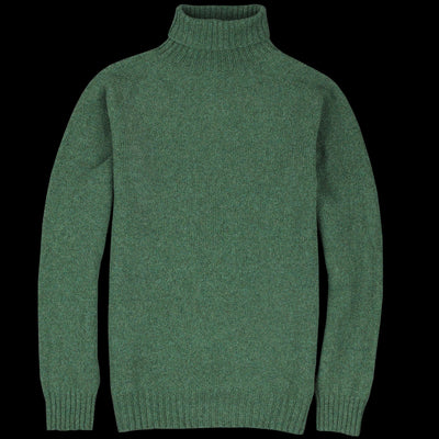 Harley of Scotland for Unionmade - Geelong Turtleneck Sweater in Serpentine