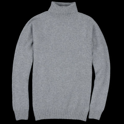 Harley of Scotland for Unionmade - Geelong Turtleneck Sweater in Flannel Grey