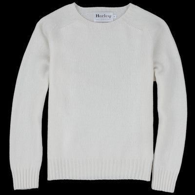 Harley of Scotland for Unionmade - Geelong Crewneck Sweater in Ice White