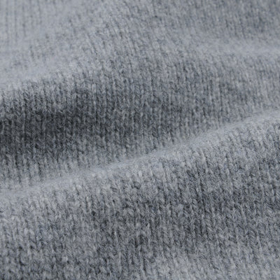 Harley of Scotland for Unionmade - Geelong Mockneck Sweater in Flannel Grey