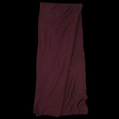 Grei. - Cashmere Blend Moss Stitch Giant Scarf in Burgundy