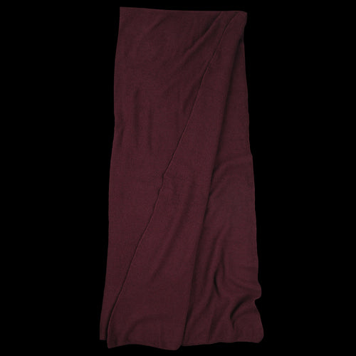 Cashmere Blend Moss Stitch Giant Scarf in Burgundy