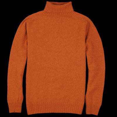 Harley of Scotland for Unionmade - Geelong Turtleneck Sweater in Sienna