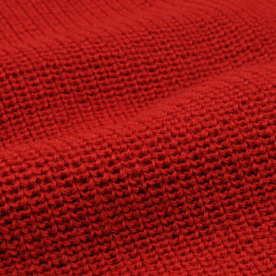 Heimat - The Mini Rollneck Sweater in Safety Red