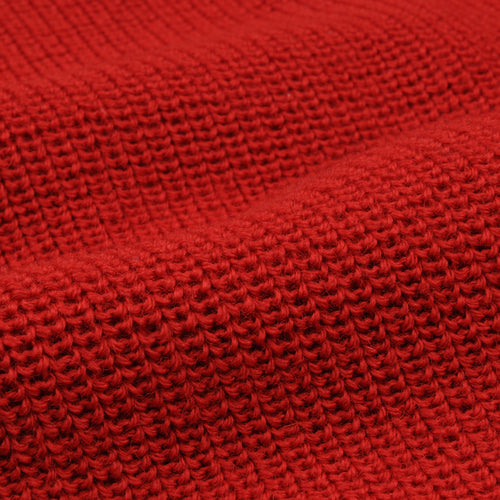 The Mini Rollneck Sweater in Safety Red