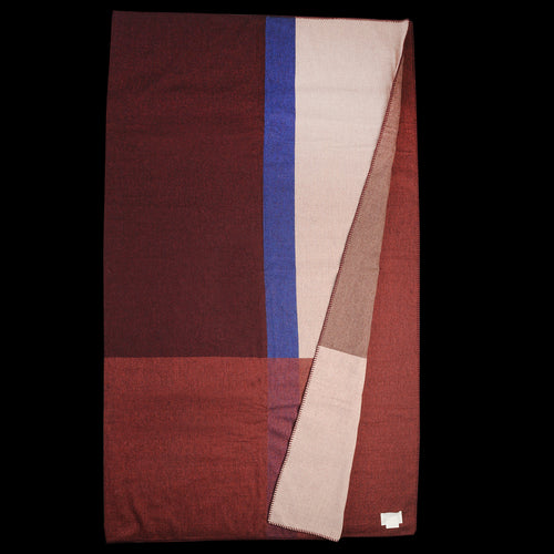 Sea View Throw in Carmine Red