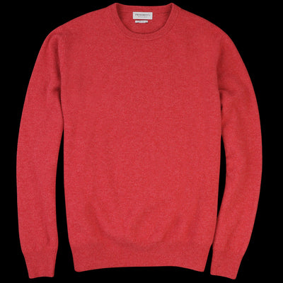 President's - Washed Wool Crewneck Sweater in Rouge