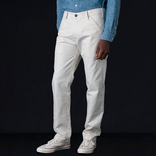 Japanese Canvas Labor Trouser in Ecru
