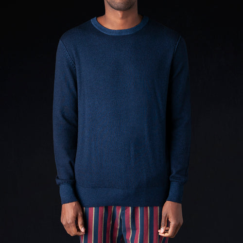 Stone W Dyed Wool Cashmere Crewneck Sweater