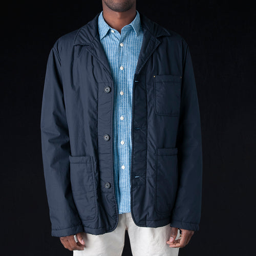 Weather Proof Washed Cotton Ternak Down Jacket in Blue