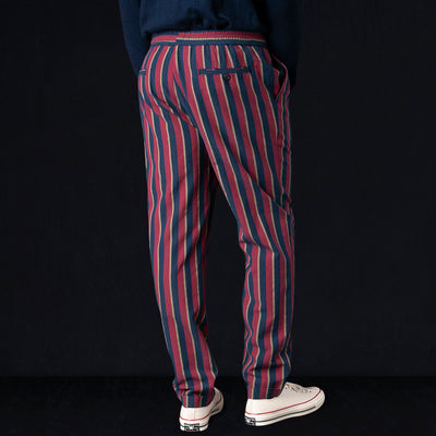 President's - Washed Stripe Alfredo Trouser in Red