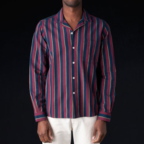 Washed Stripe Rangi Shirt in Red