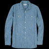 President's - Japanese Selvedge Flannel Stripe Kansas Shirt in Indigo