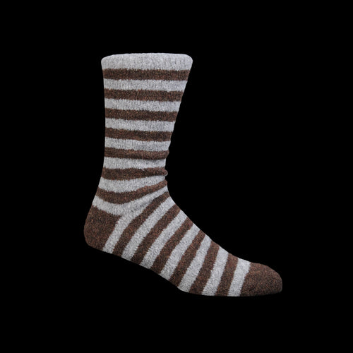 Cosmonaut Sock in Light Grey & Brown