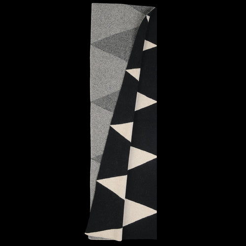 Triangle Scarf in Black & Oatmeal