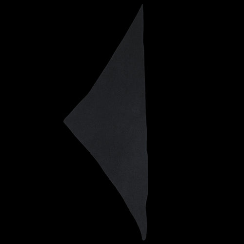 Plain Triangle Neckerchief in Black