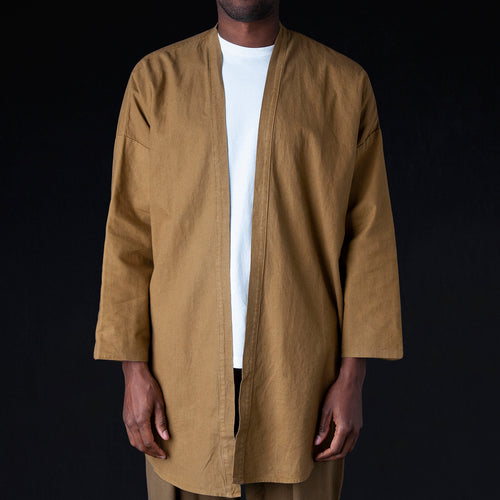 Haori Shirt Jacket in Brown