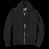 Chamula - Shawl Collar Zipper Cardigan in Black