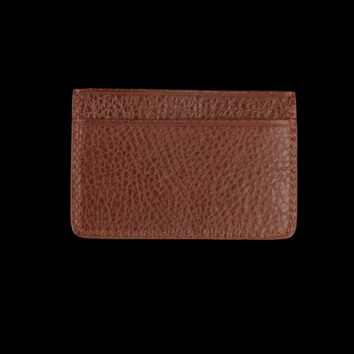 Leather Credit Card Wallet in Chestnut