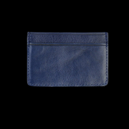 Leather Credit Card Wallet in Indigo