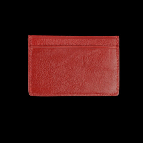 Leather Credit Card Wallet in Red