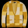 Beams+ - Shaggy Cardigan in Yellow Mix
