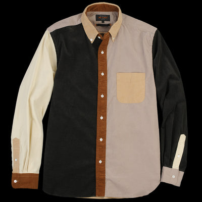 Beams+ - Crazy Corduroy Button Down Shirt in Light