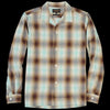 Beams+ - Ombre Check Open Collar Shirt in Mint & Brown