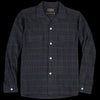 Beams+ - Check Open Collar Shirt in Navy Gun Club