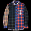 Beams+ - Shaggy Check Button Down Shirt in Tartan Crazy