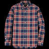 Beams+ - Brushed Check Button Down Shirt in Navy