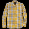 Beams+ - Grandrelle Yarn Brushed Check Button Down Shirt in Yellow