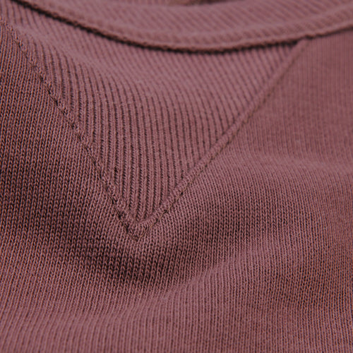 Organic Cotton Sweatshirt in Red Oak
