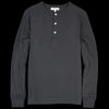Merz b. Schwanen - Organic Cotton Hemp Henley in Charcoal