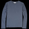 Merz b. Schwanen - Organic Cotton Hemp Crew Neck Long Sleeve Tee in Navy