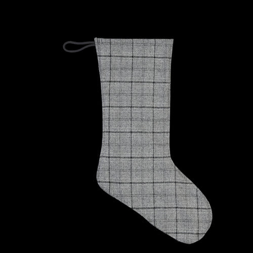 Japanese Suiting Patchwork Stocking in Grey