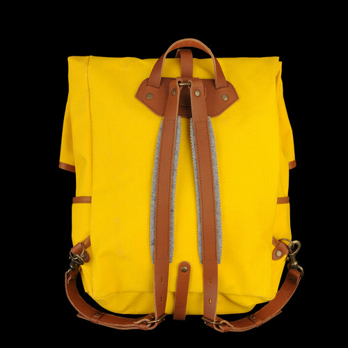 Jamy Backpack in Jaune & Caramel