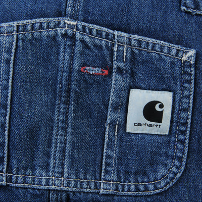 Carhartt WIP - Bib Overall Straight in Jay Denim Blue Dark Stone Wash