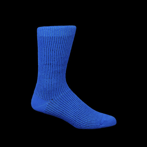Float Layer Crew Sock in Blue