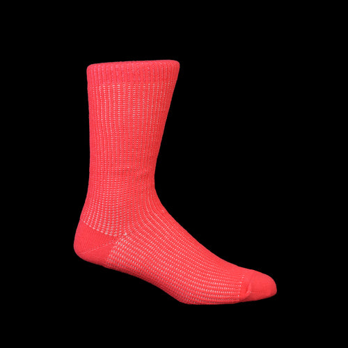 Float Layer Crew Sock in Pink