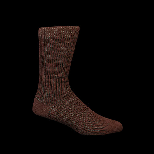 Float Layer Crew Sock in Brown