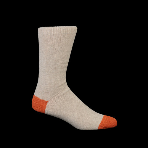 Wool Cashmere Color Crew Sock in Oat