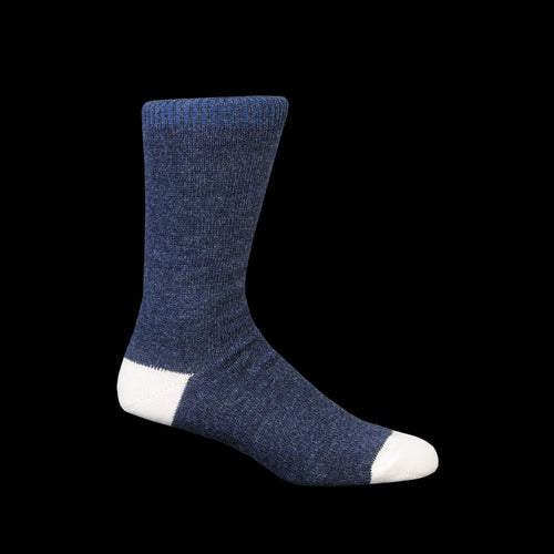 Wool Cashmere Color Crew Sock in Indigo