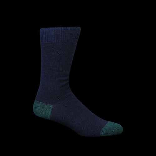 Wool Cashmere Color Crew Sock in Navy