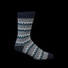 Anonymous Ism - Zigzag Links Crew Sock in Navy