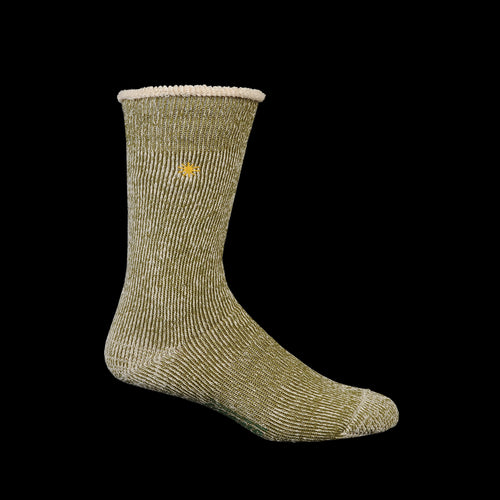 Go Hemp Low Gauge Pile Crew Sock in Khaki