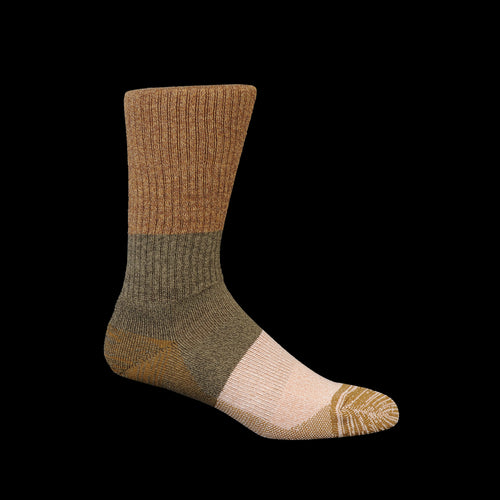 MOC Pile Crew Sock in Brown