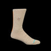 Anonymous Ism - Zuni Embro Crew Sock in Beige